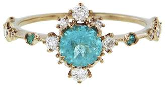 BEIGE Kataoka Paraiba And Diamond Ring Gold