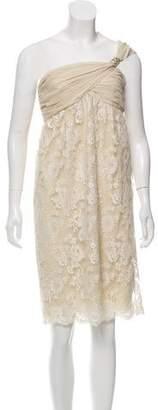 Valentino Silk Off-the-Shoulder Dress