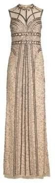 Alice + Olivia Parker Black Izzy Embellished Gown
