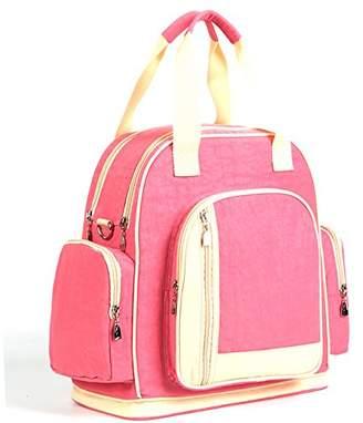 Luisvanita Multifunction Diaper Tote Bags Larger Capacity Mummy Handbag Backpack Macaron with Khaki