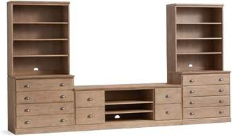 Pottery Barn Printer's Large TV Suite with Drawers