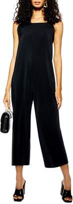 Topshop Tie Shoulder Crop Jumpsuit
