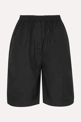 Sophie Bille Brahe Cecilie Bahnsen Simoe Cotton-poplin Shorts - Black