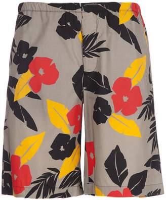 MSGM Tropical Print Shorts