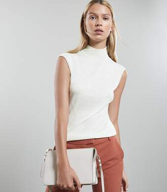 Reiss Purdy - Sleeveless Knitted Top in Floral White