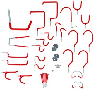 30 piece Hang it Yourself Home and Garage Organization - Red by Stalwart