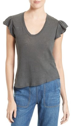 Women's La Vie Rebecca Taylor Washed Texture Jersey Tee $95 thestylecure.com