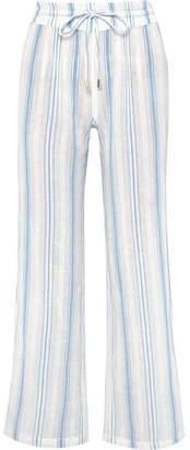 Melissa Odabash Krissy Striped Cotton-gauze Pants