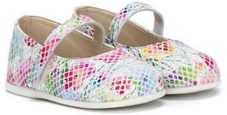Baby Walker floral print mesh ballerina shoes