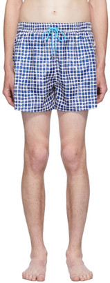 Paul Smith SSENSE Exclusive Blue Block Stamp Swim Shorts