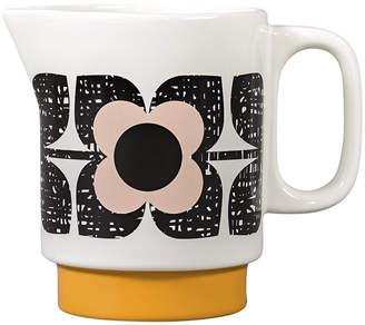 Orla Kiely Scribble Square Flower Milk Jug - Rose Tint