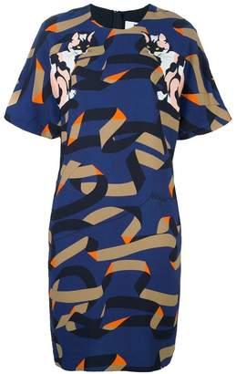 MSGM cat print shift dress