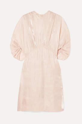 Prada Cutout Charmeuse Mini Dress - Blush