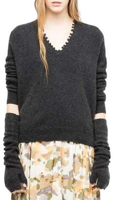 Zadig & Voltaire River Distressed Sweater