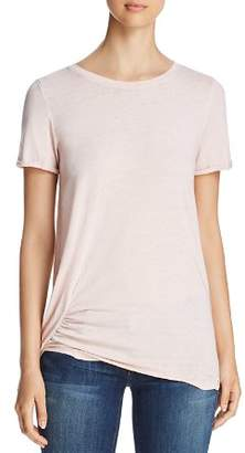 Andrew Marc Short-Sleeve Ruched Tee