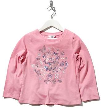 M&Co Butterfly print top
