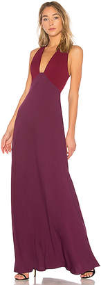 Jill Stuart Two Tone V Neck Gown