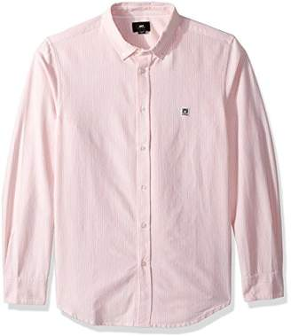 Obey Men's Eighty Nine Long Sleeve Button up Woven