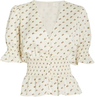 Notes Du Nord Lucy Floral Peplum Blouse