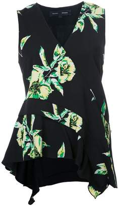 Proenza Schouler sleeveless floral print top