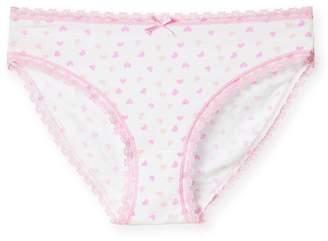 Pink Label Chenpodium Heart Print Bikini