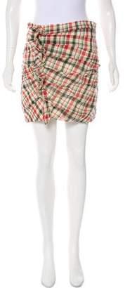 Etoile Isabel Marant Plaid Mini Skirt