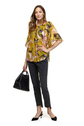 Country Road Flute Sleeve Blouse