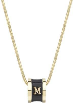 Florence London - A-Z Initial Necklace - Black Enamel