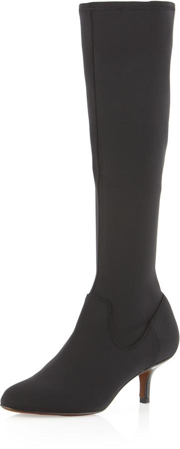 Donald J Pliner Yazi Stretch Gore Knee Boot, Black
