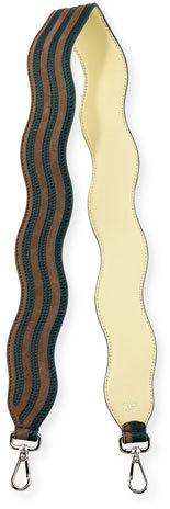 FendiFendi Strap You Wave Shoulder Strap for Handbag, Navy/Turquoise