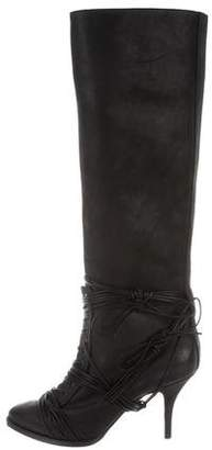 Givenchy Lace-Up Knee-High Boots