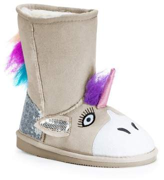 Muk Luks Unicorn Faux Fur Lined Boot (Toddler & Little Kid)