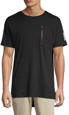 ProjekRaw Zip-Detail Cotton Tee