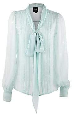 0cb524bcaa6ee4 Marc Jacobs Women s Pleated Silk Tie-Front Blouse - Size 0