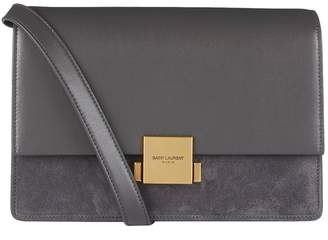Saint Laurent Medium Suede Panel Bellechasse Satchel