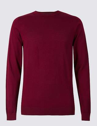 Marks and Spencer Pure Extra Fine Merino Crew Neck Jumper