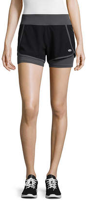 Tapout Warrior Woven Knit Mix Graphic Shorts