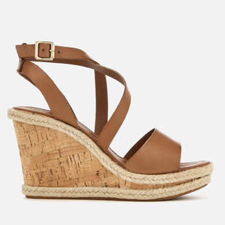 Carvela Women's Kable Leather Wedged Sandals