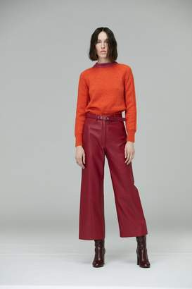 Veda Vance Leather Trouser Cerise
