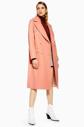 Topshop Womens Relaxed Coat - Apricot