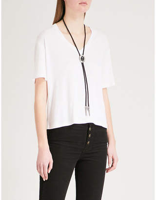 The Kooples Necklace-detail woven T-shirt