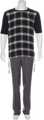 Helmut Lang Plaid Knit T-Shirt