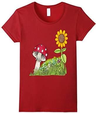 Mushroom and Sunflower T-Shirt