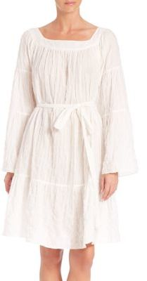 Lisa Marie Fernandez Short Cotton Peasant Dress $645 thestylecure.com