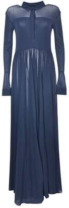 Jil Sander Gathered Crepe Maxi Dress
