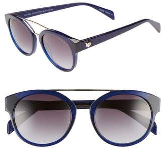 Draper James 51mm Round Sunglasses
