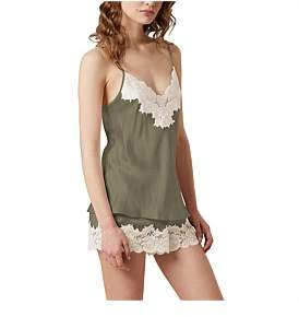 Ginia Silk Cami With Lace