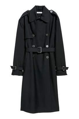 H&M Trenchcoat - Black - Women