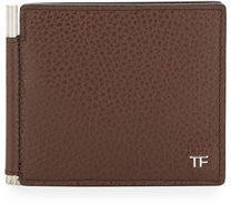 TOM FORD Men's Leather Bi-Fold Wallet with Money Clip $490 thestylecure.com