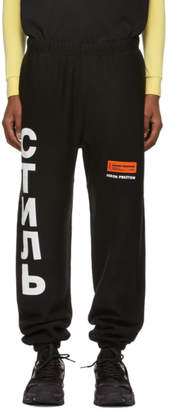 Heron Preston Black Style Sweatpants